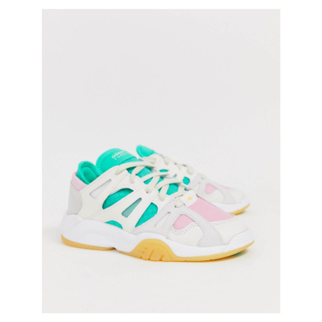 Adidas Originals Dimension Lo in white and pink