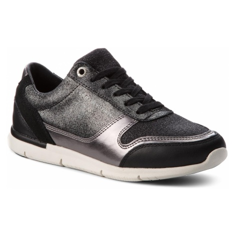 Sneakersy TOMMY HILFIGER - Sparkle Light Sneaker FW0FW03276 Black 990