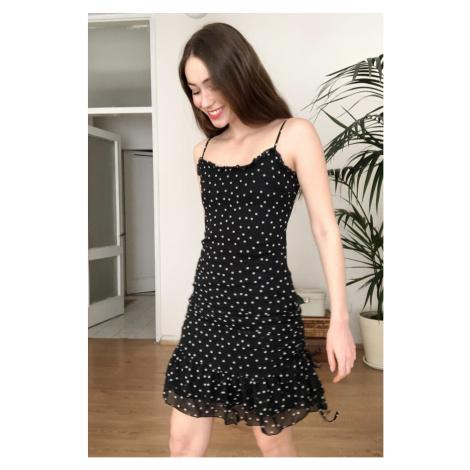 Trendyol Black Polka Dot Dress