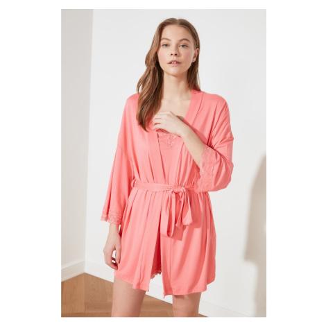 Trendyol Rose Dry Knitted Kimono&kaftan