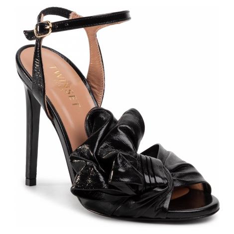 Sandały TWINSET - Sandalo 201TCP114 Nero 00006