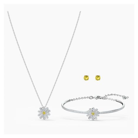 Zestaw Eternal Flower, żółty, różnobarwne metale Swarovski