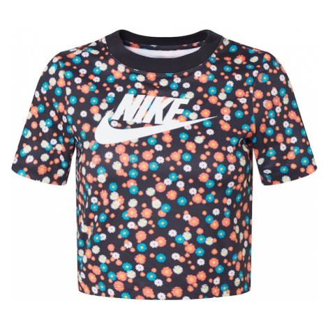 Nike Sportswear Koszulka czarny / turkusowy / pomarańczowy