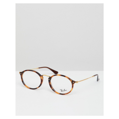 Ray-Ban 0RX2547V round optical frames with demo lenses