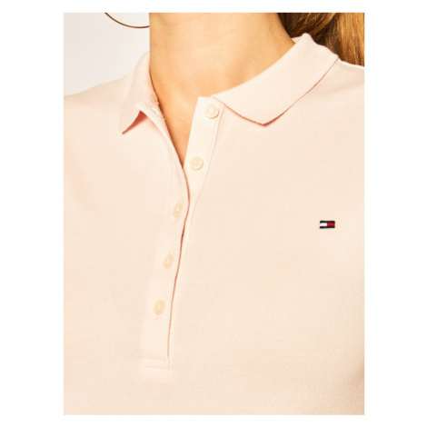 Tommy Hilfiger Polo WW0WW27947 Różowy Slim Fit