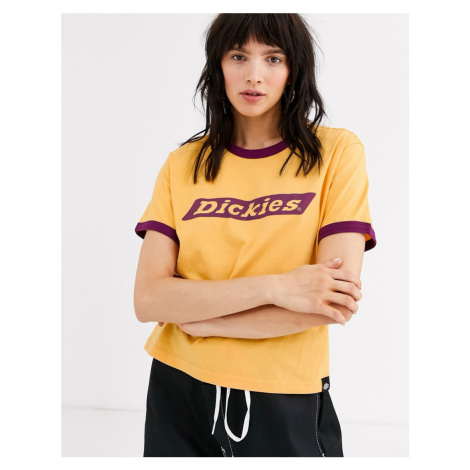 Dickies ringer t-shirt with large front logo