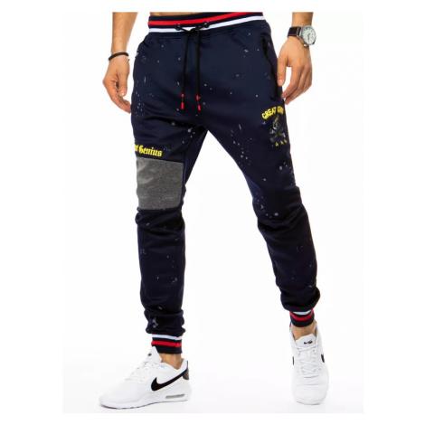 Męskie granatowe spodnie Dstreet UX3070