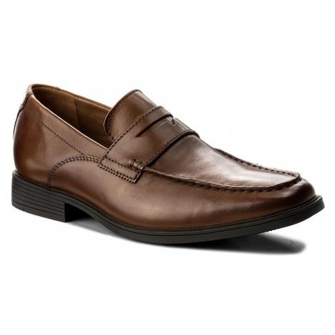 Półbuty CLARKS - Tilden Way 261315767 Tan Leather