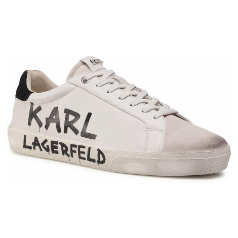 Sneakersy KARL LAGERFELD - KL51316 White Lthr & Suede