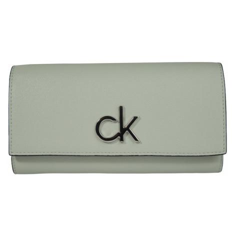 Calvin Klein Portmonetka 'RE-LOCK TRIFOLD WALLET LG' zielony