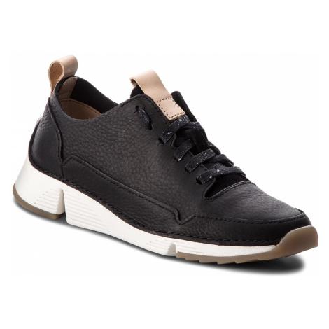 Sneakersy CLARKS - Tri Spark. 261353844 Black Nubuck