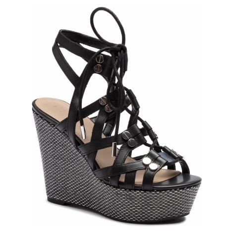 Espadryle GUESS - Gray FL6GRY LEA04 BLACK