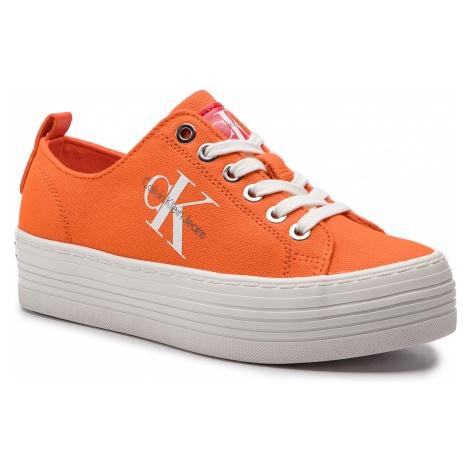 Tenisówki CALVIN KLEIN JEANS - Zolah R0673 Orangeade
