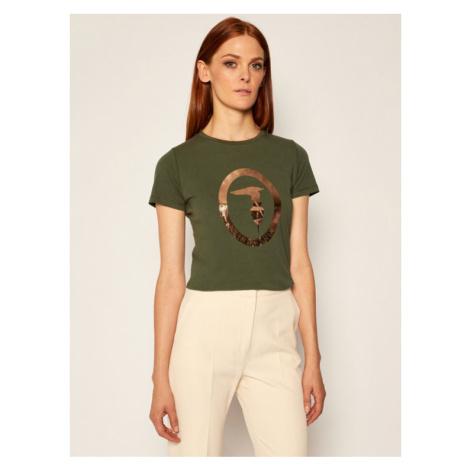 Trussardi Jeans T-Shirt 56T00280 Zielony Regular Fit