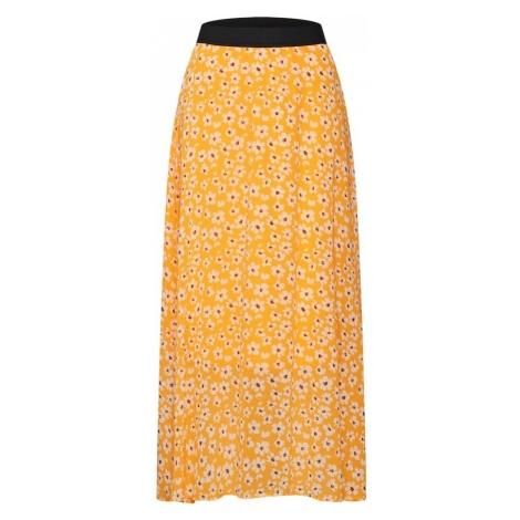 SELECTED FEMME Spódnica 'FLEURA' ciemnożółty / biały