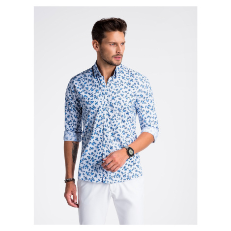 Ombre Clothing Men's elegant shirt with long sleeves K501