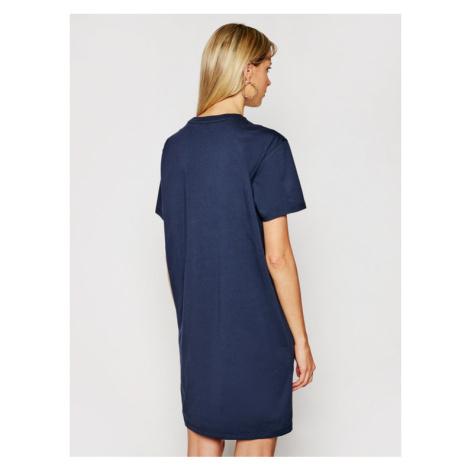 Tommy Hilfiger Sukienka codzienna Rn Dress Half Sleeve UW0UW01639 Granatowy Regular Fit