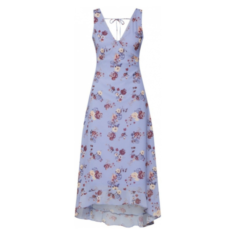Even&odd Letnia sukienka cappuccino / jasnofioletowy / czerwony