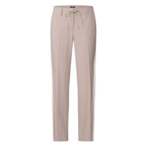 OPUS Spodnie w kant 'Mara' piaskowy / biały