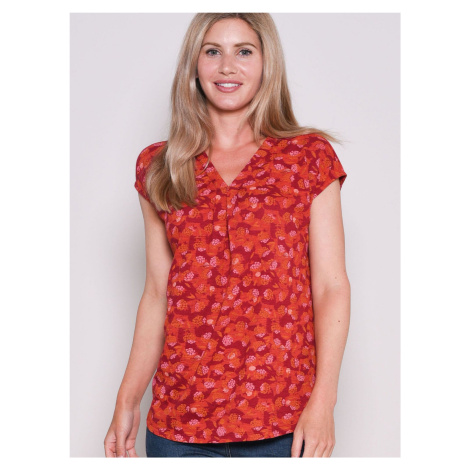 Czerwona wzorzysta koszulka Brakeburn