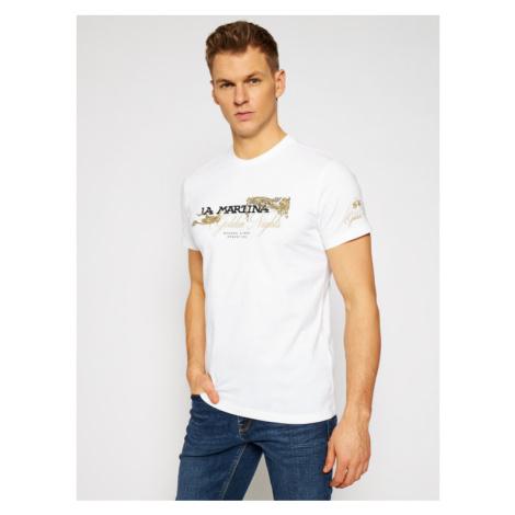 La Martina T-Shirt RMR303 JS206 Biały Regular Fit