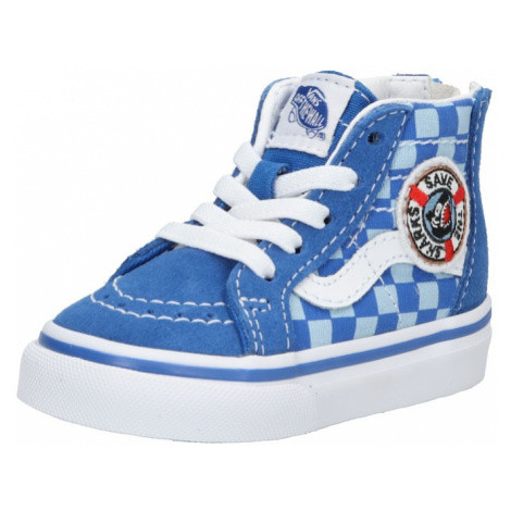 VANS Trampki 'TD SK8-Hi Zip' niebieski / biały