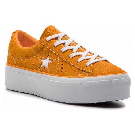 Tenisówki CONVERSE - One Star Platform Ox 563487C Field Orange/White/White