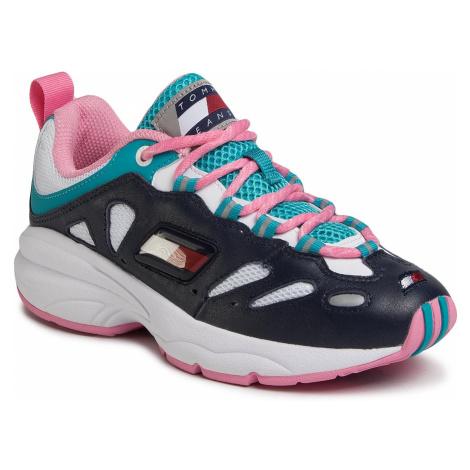 Sneakersy TOMMY JEANS - Heritage Retro Wmn Tommy Sneaker EN0EN00777 Twilight Navy C87 Tommy Hilfiger