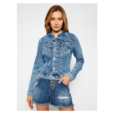 Tommy Jeans Kurtka jeansowa Vivianne Denim Trucker DW0DW10074 Granatowy Slim Fit Tommy Hilfiger