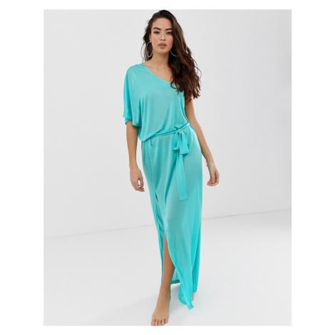 ASOS DESIGN one shoulder beach slinky maxi dress