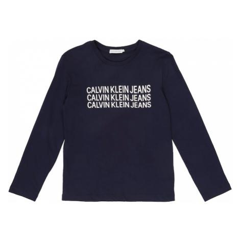 Calvin Klein Jeans Koszulka granatowy / biały