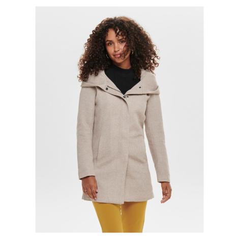Only beżowy płaszcz