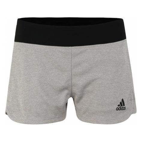 ADIDAS PERFORMANCE Spodnie sportowe '2IN1 SOFT SHRT' jasnoszary / czarny