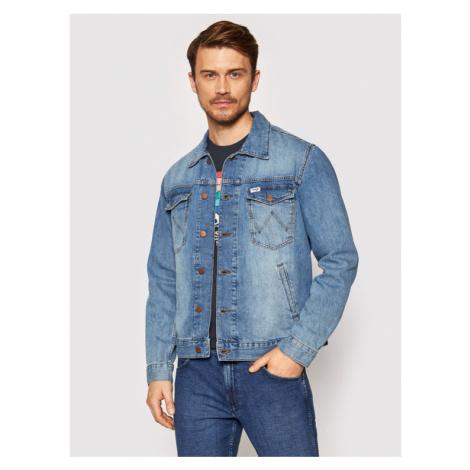 Wrangler Kurtka jeansowa W443ZB286 Niebieski Regular Fit