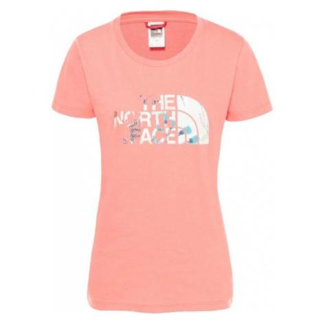 The North Face S/S EASY TEE W jasnoróżowy XL - Koszulka damska