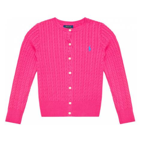 Polo Ralph Lauren Sweter Mini Cable 313543047013 Różowy Regular Fit