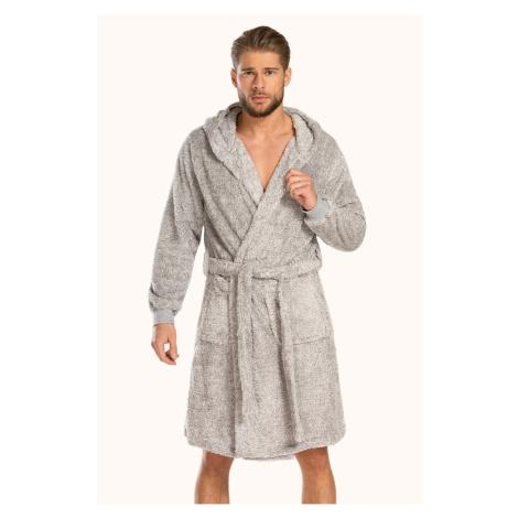 Szare męskie piżamy i szlafroki