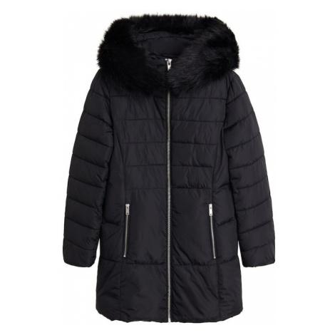 MANGO Płaszcz zimowy 'Anie' czarny