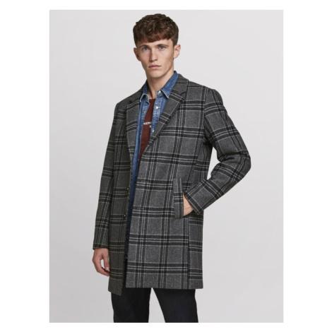 Jack&Jones PREMIUM Płaszcz przejściowy Blamoulder Check 12175885 Szary Regular Fit