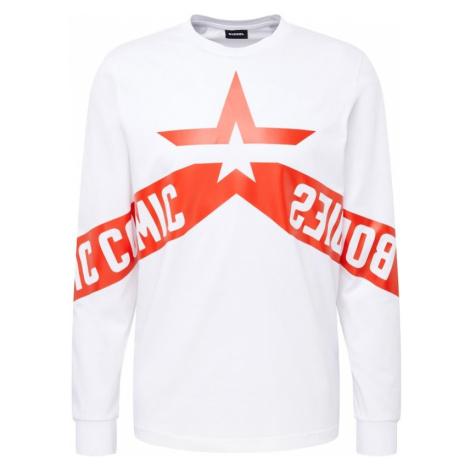 DIESEL Bluzka sportowa czerwony / biały