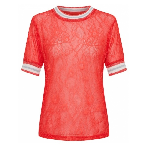 Review Koszulka 'SPORTY LACE TEE' czerwony