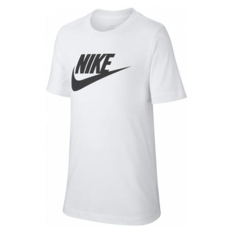Bawełniany T-shirt dla dużych dzieci Nike Sportswear - Biel