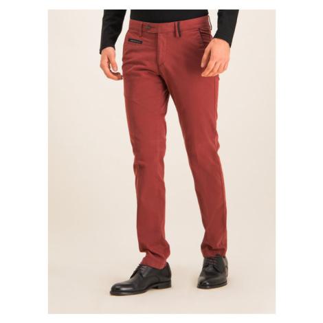 Digel Spodnie materiałowe 88140 Bordowy Regular Fit