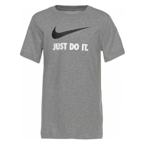 Nike Sportswear Koszulka 'Swoosh' biały / nakrapiany szary / czarny