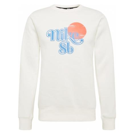 Nike SB Bluzka sportowa 'CREW SUNRISE' aqua / neonowa pomarańcza / skorupka od jajka