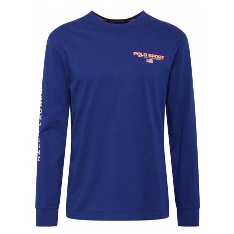 POLO RALPH LAUREN Koszulka królewski błękit / ciemnopomarańczowy / biały