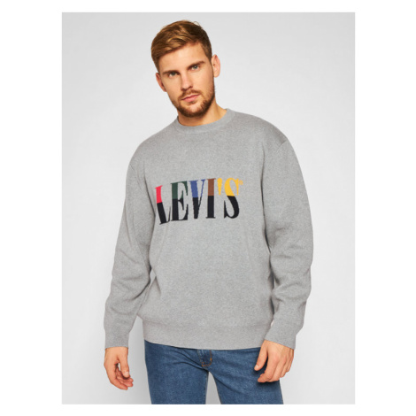 Levi's® Sweter Felpa 73459-0000 Szary Relaxed Fit Levi´s