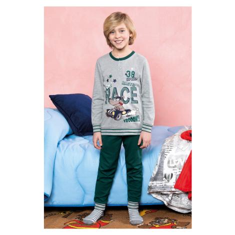 Chłopięca piżama Race zielona