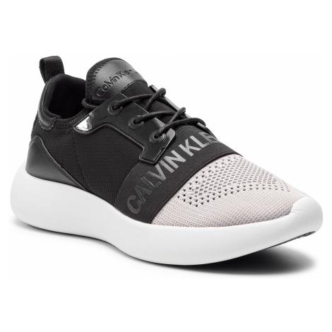 Sneakersy CALVIN KLEIN JEANS - Mel SE8604 Silver/Black
