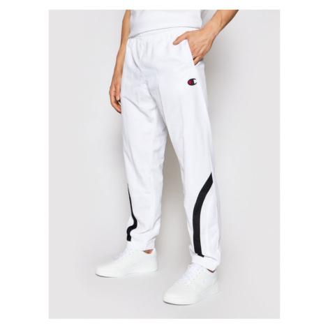 Champion Spodnie dresowe Colour Block 214264 Biały Custom Fit
